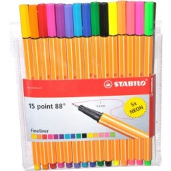 ROTULADOR STABILO POINT 88 PACK 15 UDS.